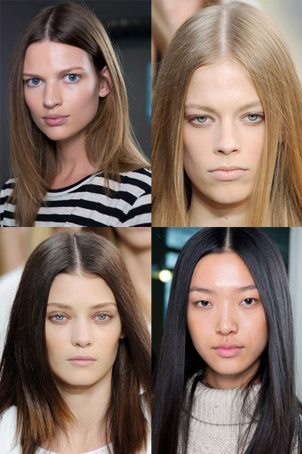 """<b><u>Chloé</u><br> No makeup makeup kit:</b> Moisturiser, foundation, eyelash curler and cream bronzer.<br> <b>The look: </b>A dewy complexion – humidified skin that glowed from within.<br> <b>How-to:</b> Makeup artist Diane Kendal, working with M.A.C Cosmetics, told WWD she applied foundation onto the models' faces and then removed it with moisturiser, """"so we get that beautiful residue left [creating] a really glowing, luminous feel."""" Eyelashes were left naked but curled and the tiniest dab of bronze cream colour was applied to the cheeks."""
