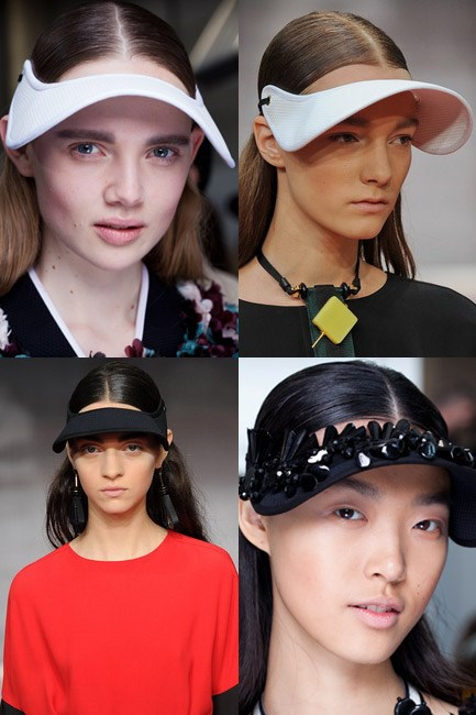 <b><u>Marni</u><br> No makeup makeup kit: </b>Highlighter, peach blush, eyebrow powder, matte eyeshadow and an eyelash curler.<br> <b>The look: </b>A contoured and structured face. <br> <b>How-to: </b>Makeup artist Tom Pecheux applied highlighter onto the cheekbones, then dusted a peach blush – M.A.C Blush in Pleasure Model – along the jawline to give the allusion of a contoured, strong, almost androgynous-boned face. M.A.C Nightlight Sparkle Shadow was used to fill in the brows and a very subtle matte eyeshadow – M.A.C Eye Shadow in Gesso – was used across the lids. No mascara, but the trusty eyelash curler was employed.