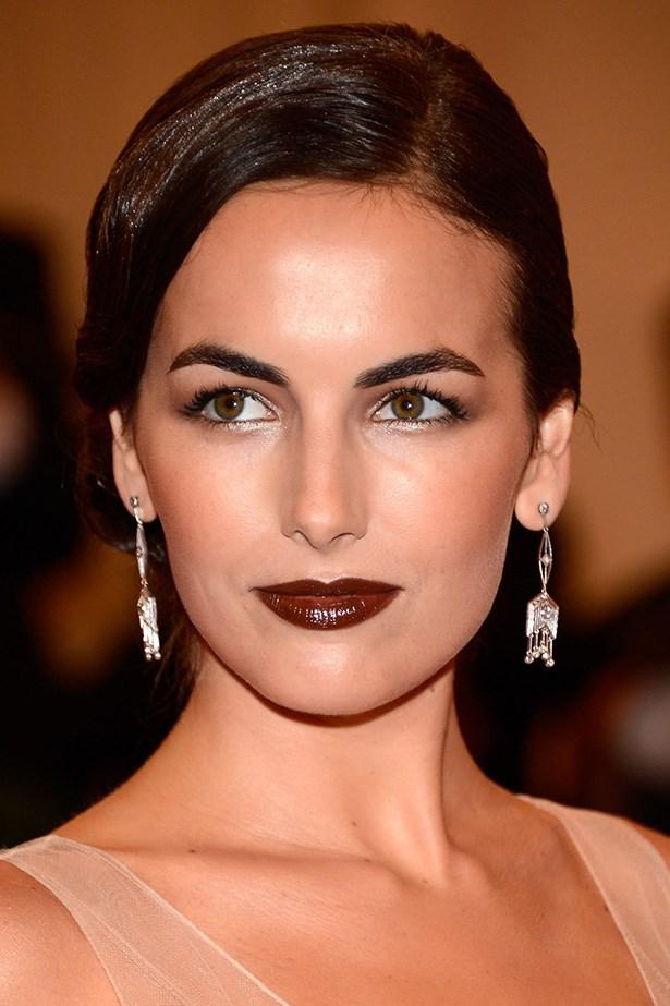 Camilla Belle with dark lips