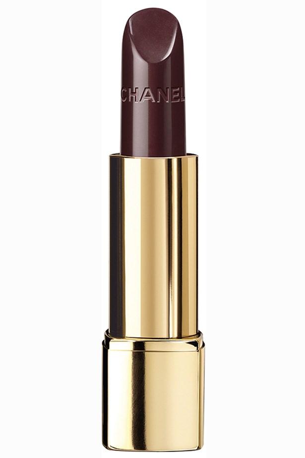 Rouge Allure Luminous Intense Lip Colour 'Rouge Noir', $50, Chanel, (02) 9900 2944