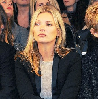 Kate Moss front row at Topshop Unique