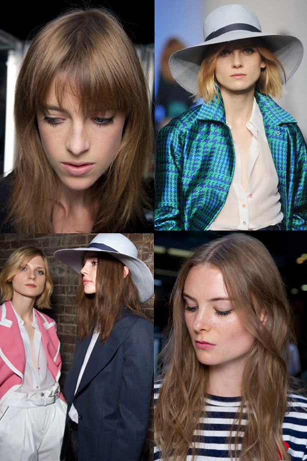 <p><strong>The show</strong>: Paul Smith</p> <p><strong>The headgear</strong>: A sunhat.</p> <p><strong>The 'do</strong>: Flat up top with textured ends was the mane idea at the Paul Smith runway. Whether the hair was long or short, this was a winning formula. </p>
