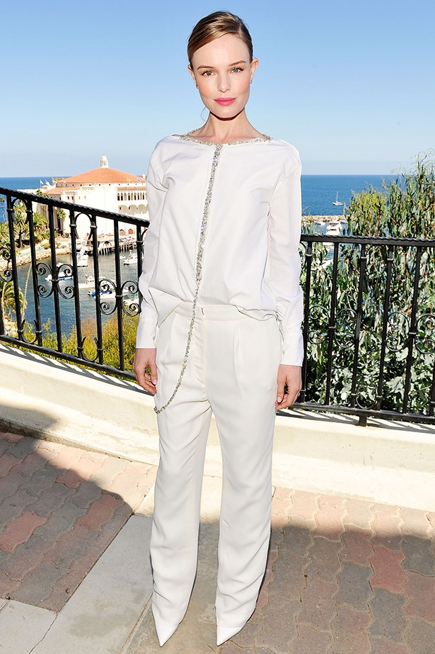 Kate Bosworth looks like a modern-day Grace Kelly in this fresh-off-the-runway Thakoon look.