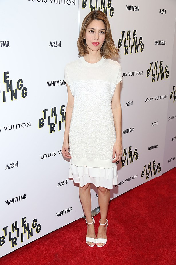 Sofia Coppola wore a sequined Louis Vuitton outfit to the premiere of her film, <em>The Bling Ring</em>.