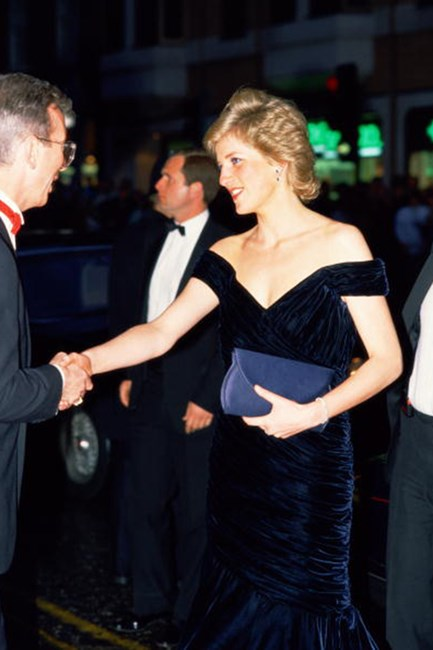 "Dubbed the ""Travolta Dress"" after she danced with the actor at The Whitehouse in 1985, her midnight blue silk-velvet Victor Edelstein gown went down in history as one of her best in style – literally, it sold for over $405,000."