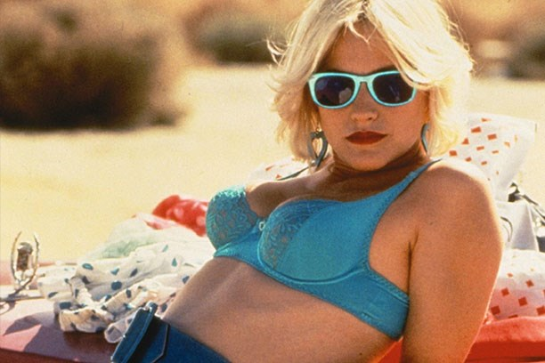 Patricia Arquette's bra in <em>True Romance</em> – Matching your sunnies to your electric blue bra is the ultimate in '90s electro-revival cool. Follow Arquette's lead. She knows what she's doing.