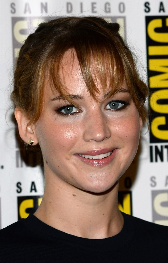 Oscar winner and face of Dior, Jennifer Lawrence, demonstrates how one can do a full face of makeup and still let those freckles shine through.