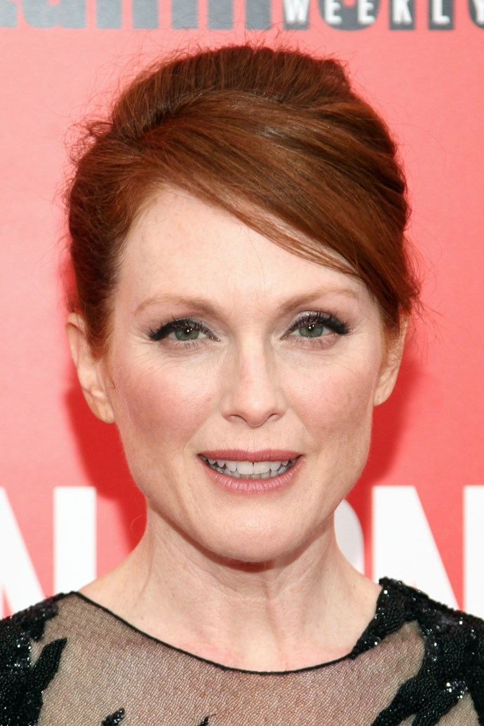 It's worth mentioning that Julianne Moore is 52 years old. Yep! Here's to slathering on SPF.