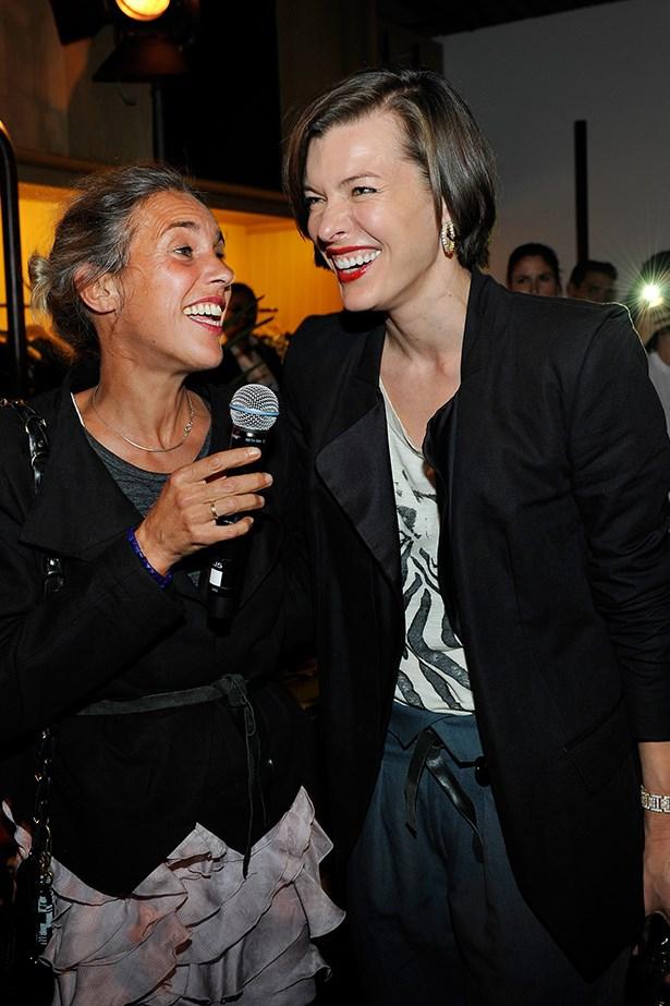 Milla Jovovich and Isabel Marant.