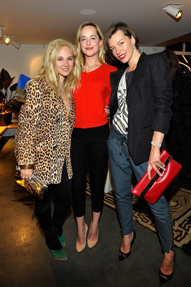 Juno Temple, Dakoda Johnson and Milla Jovovich.