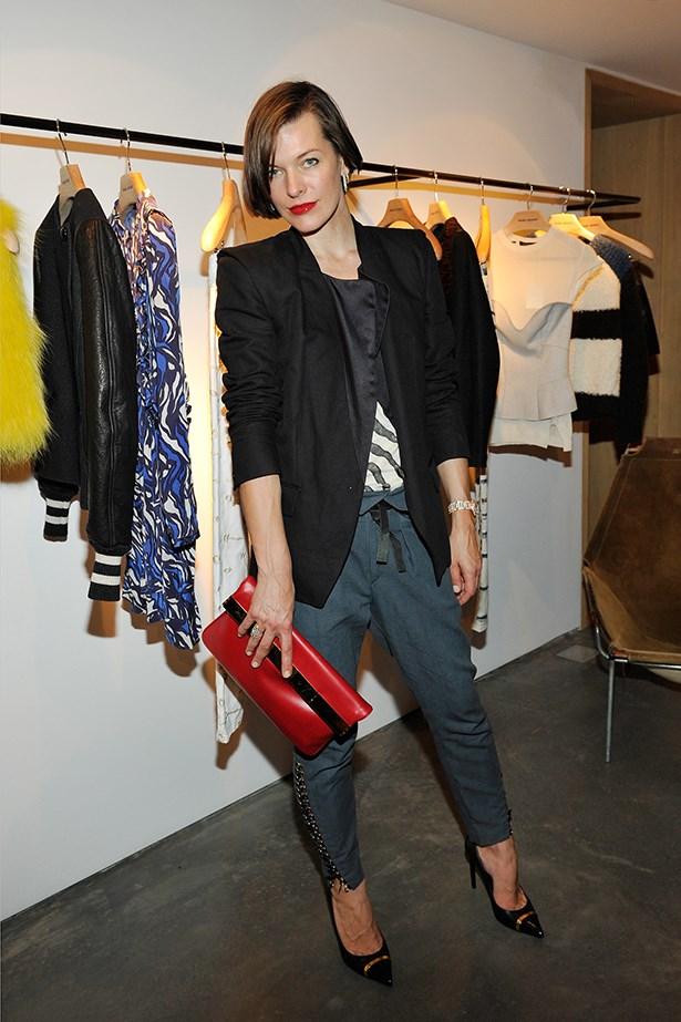 Event co-host Milla Jovovich.