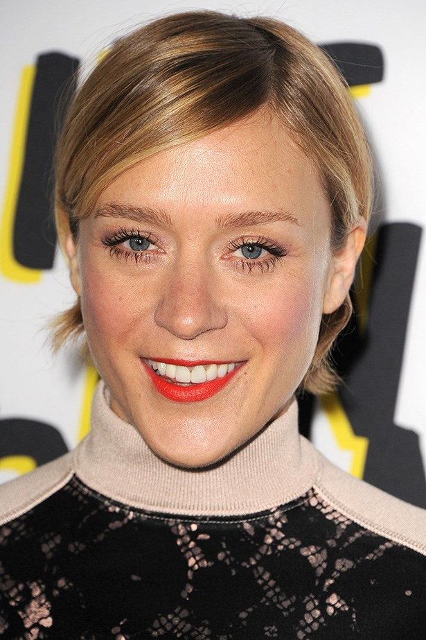 Fine, fair hair like Chloe Sevigny's looks chic with a side part and tucked behind the ears.