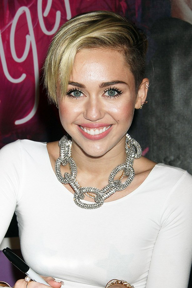 Miley's wardrobe choices (or lack thereof) aren't for everyone, but her shaved-sides and bleached-top short cut is a liberated look for a long hot summer. You'll save serious money on shampoo and plenty of time with the blow-dryer.