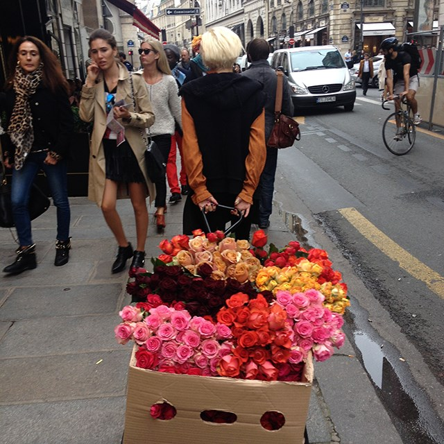 Flowers on the street of Paris.