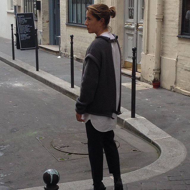 On the streets of Paris in my favourite new-season sweater by Christopher Kane!