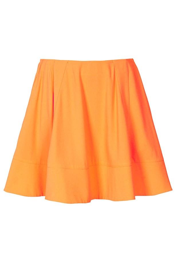 """Skirt, approx $151.03, Topshop, <a href=""""http://www.topshop.com """">topshop.com </a>"""