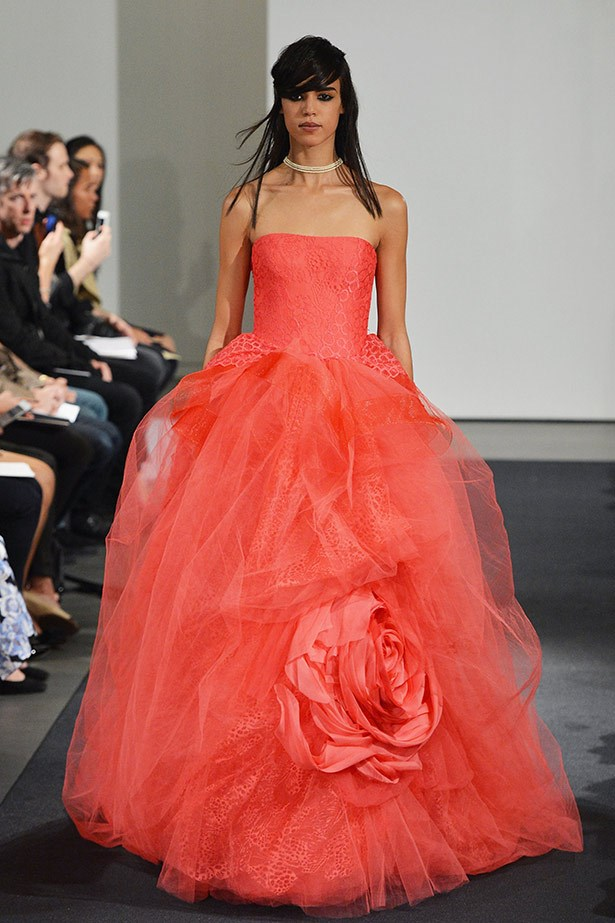 Vera Wang AW14 bridal runway show in <br>New York