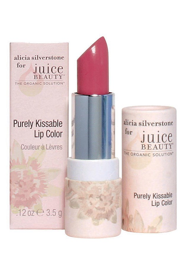 Purely Kissable Lip Colour, approx $16, Alicia Silverstone for Juice Beauty, juicebeauty.com