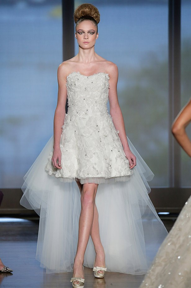Ines DiSanto AW14 bridal runway show in <br>New York