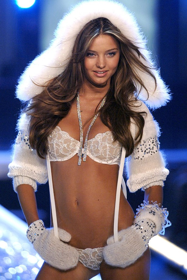 HOTTEST. SNOW BUNNY. EVER. Kerr could melt the ice around her neck in this sexy ensemble, worn for her debut as a Victoria's Secret Angel in 2006