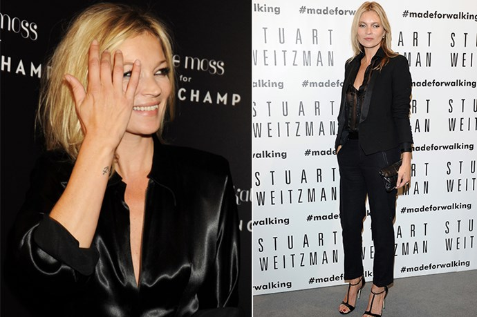 <strong>Kate Moss</strong><br> <strong>Age</strong>: 39<br> <strong>Agency</strong>: Storm Models<br> <strong>Tattoos</strong>: Moss has some of the world's most expensive tattoos, including a small anchor on her wrist and two swallows on her lower back. <br> <strong>What you didn't know about her tattoos</strong>: Moss's swallow tattoos were inked by late artist Lucian Freud, whose works have been sold for millions of dollars at auction. <br>