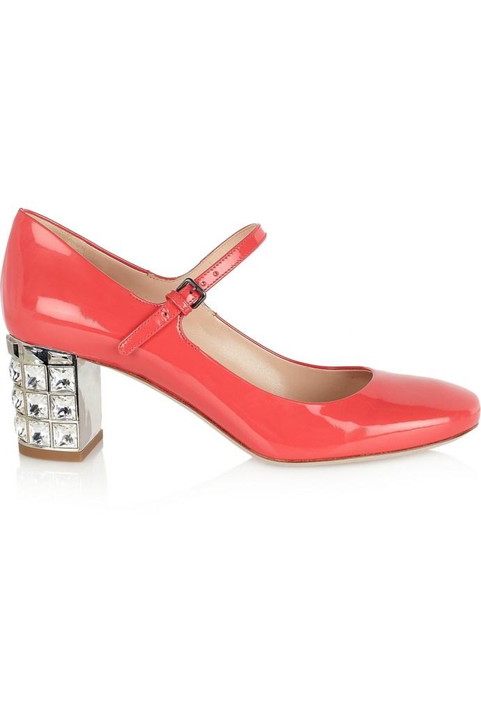 "<strong>Heels, approx $898, Miu Miu, <a href=""http://www.net-a-porter.com/product/339975"">net-a-porter.com</a> </strong>"