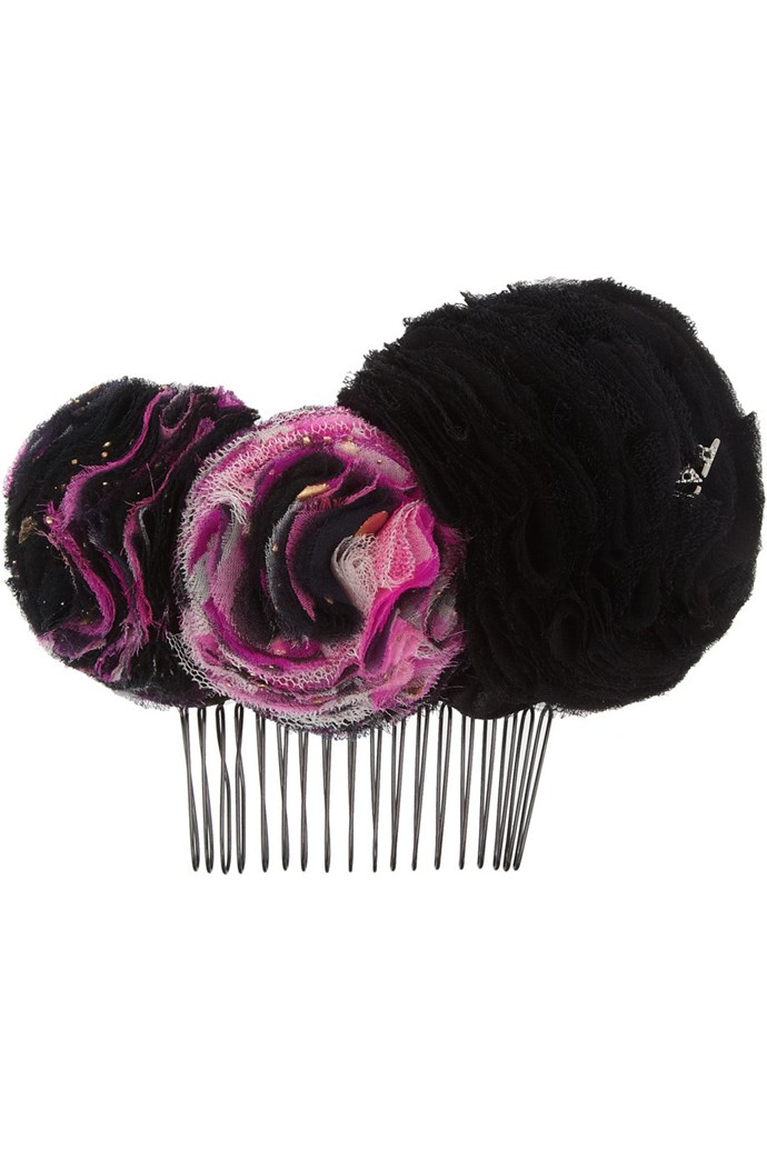 """<strong>Headband, approx $322, Maison Michel, <a href=""""http://www.net-a-porter.com/product/383269"""">net-a-porter.com</a> </strong>"""