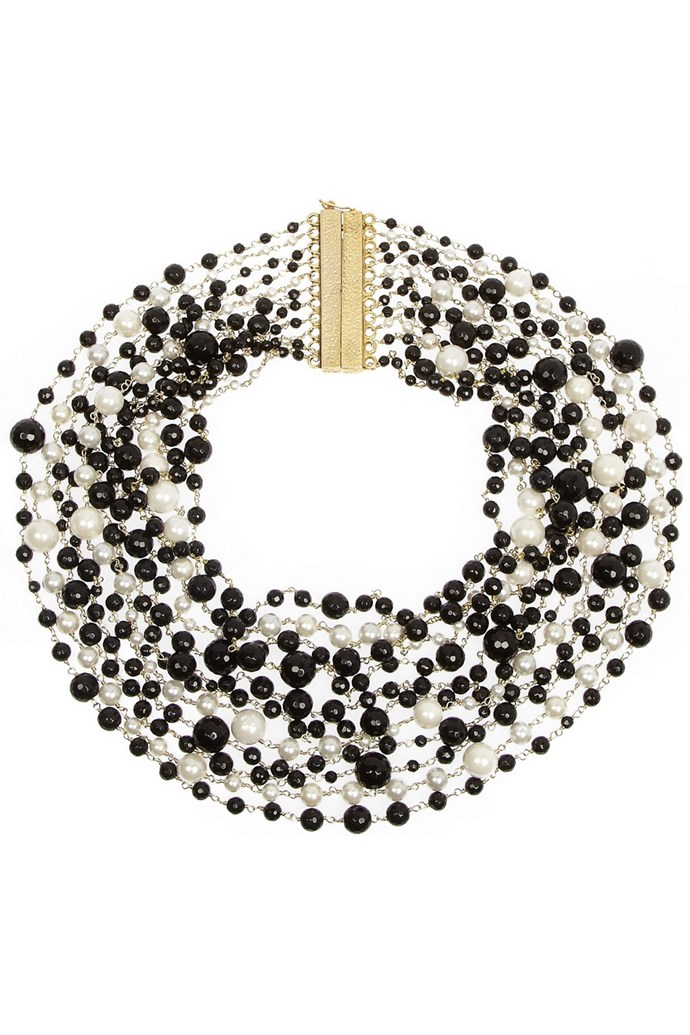 "<strong>Pearls, pearls, pearls</strong><br> ""Pearls are big news this season and Rosantica's pearl and onyx necklace is a personal favourite. The mixture of freshwater pearls and black onyx beads gives this classic style a modern twist and is a great way to tap into the monochrome trend, too."" <br>,br> <strong>Pearl necklace, $670.34, Rosantica, <a href=""http://www.net-a-porter.com/product/385421"">net-a-porter.com</a></strong> <strong><br><br>See Net-A-Porter's full <a href=""http://www.net-a-porter.com/apac/Shop/List/Spring_Racing_Edit"">spring racing edit here</a></strong>"