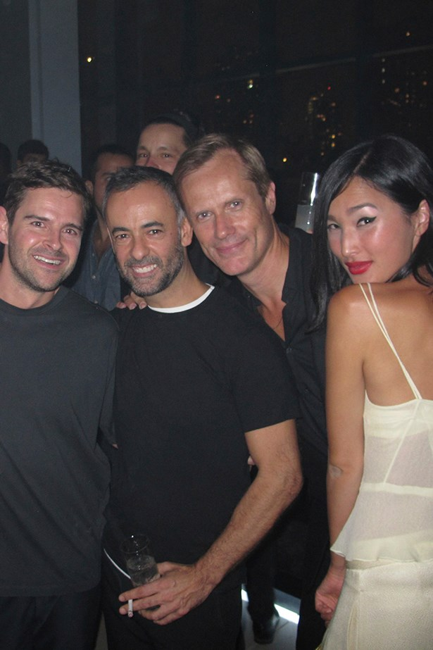 Nick and I with Calvin Klein designer Francisco Costa alongside Malcolm Carfrae and Nicole Warne from Garry Pepper Girl.