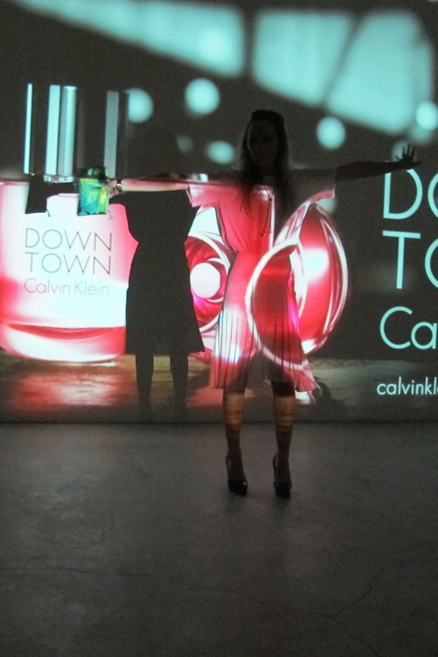 Calvin Klein's new perfume Down Town was also launched at the after party. Projectors in the entrance showed the new advertisement on a loop.
