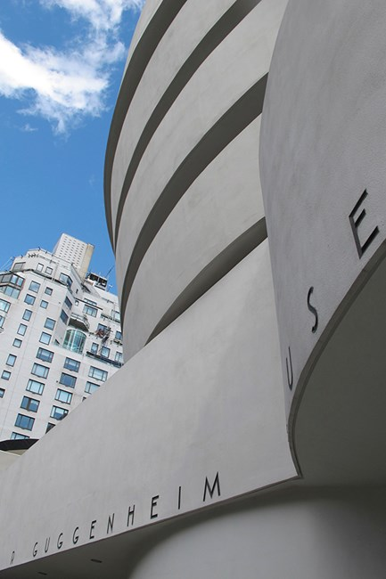 The Guggenheim Museum designed Frank Lloyd Wright in all its glory and angles.