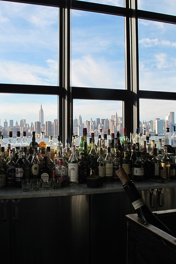 A final drink at Wythe Hotel in Brooklyn. It's funny how the bar mirrored the silhouette of the Manhattan skyline.