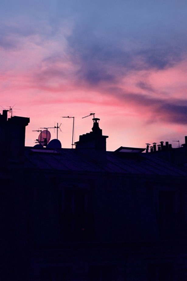 A late-September sunset from the balcony