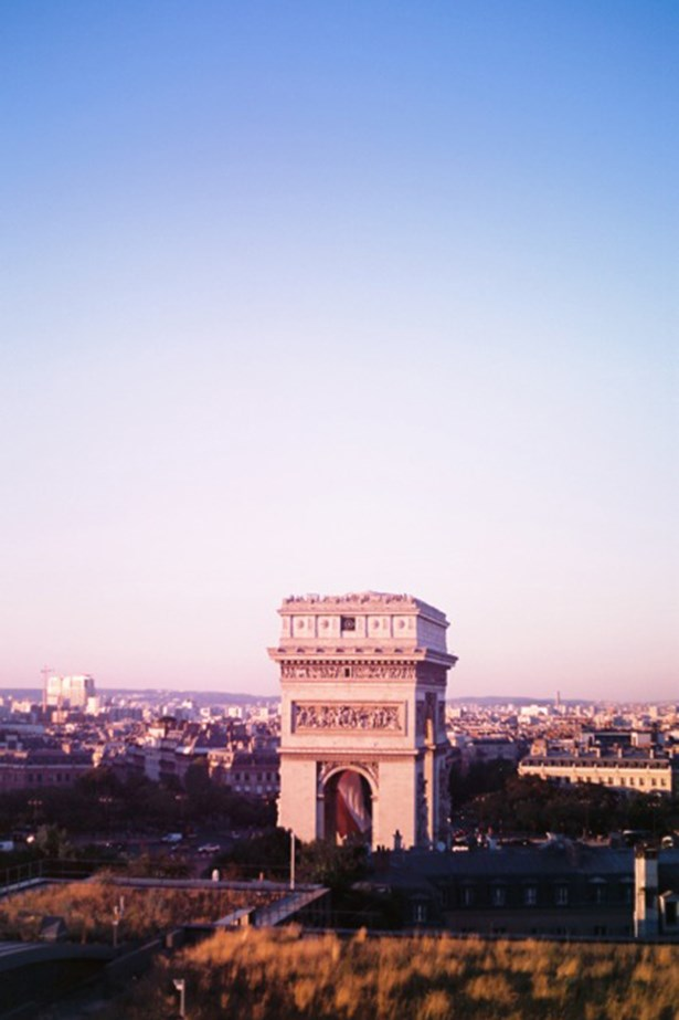 A special occasion offered this view of the Arc de Triomphe
