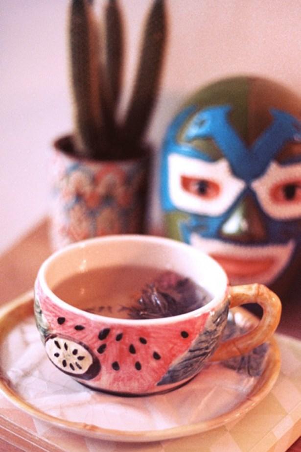 Jasmine tea in my favourite teacup