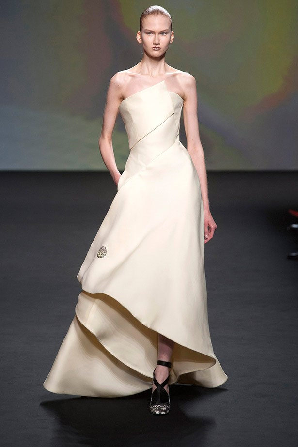 <strong>Christian Dior Couture AW13-14</strong><br><br> Kim's style has taken a sleek and modern twist since she started dating Kanye, and if he has any say in the matter, we imagine her in this stunning Christian Dior gown.