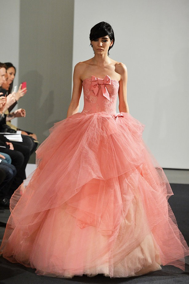 <strong>Vera Wang Bridal 14</strong><br><br> Should Kim decide to wear another Vera Wang dress to her wedding, we're betting she opts for a gown in a different colour than white, like this frothy pink creation.