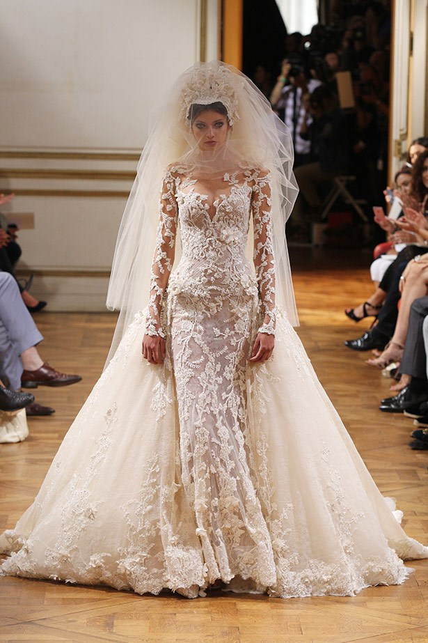 <strong>Zuhair Murad Couture AW13-14<br><br></strong> We love Kim for her over-the-top and often lavish lifestyle, and this wedding dress would make our dreams come true.