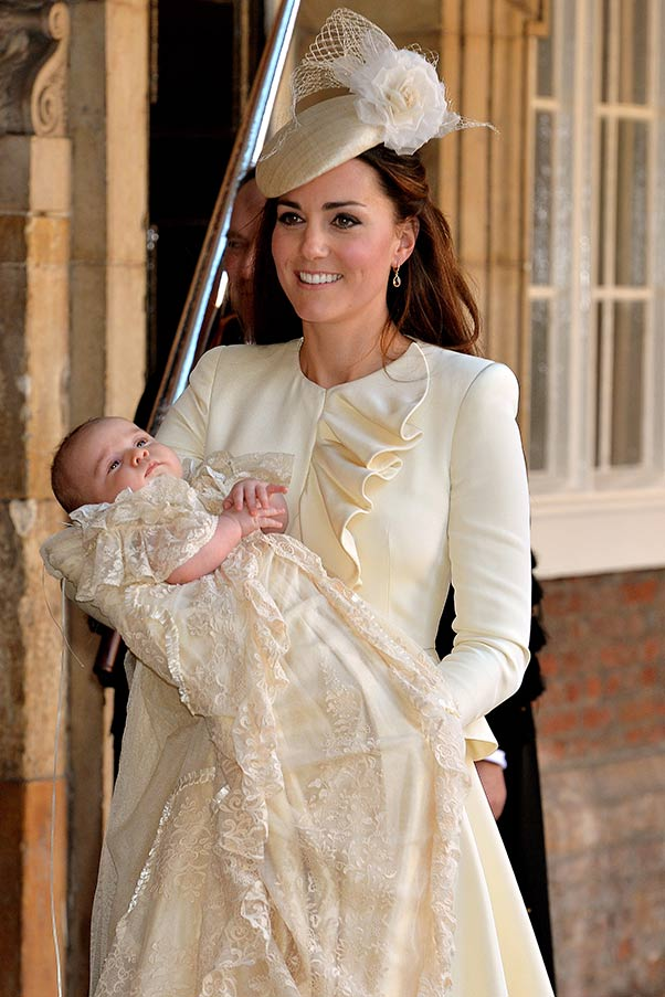 Kate Middleton wear Alexander McQueen to Prince George's christening