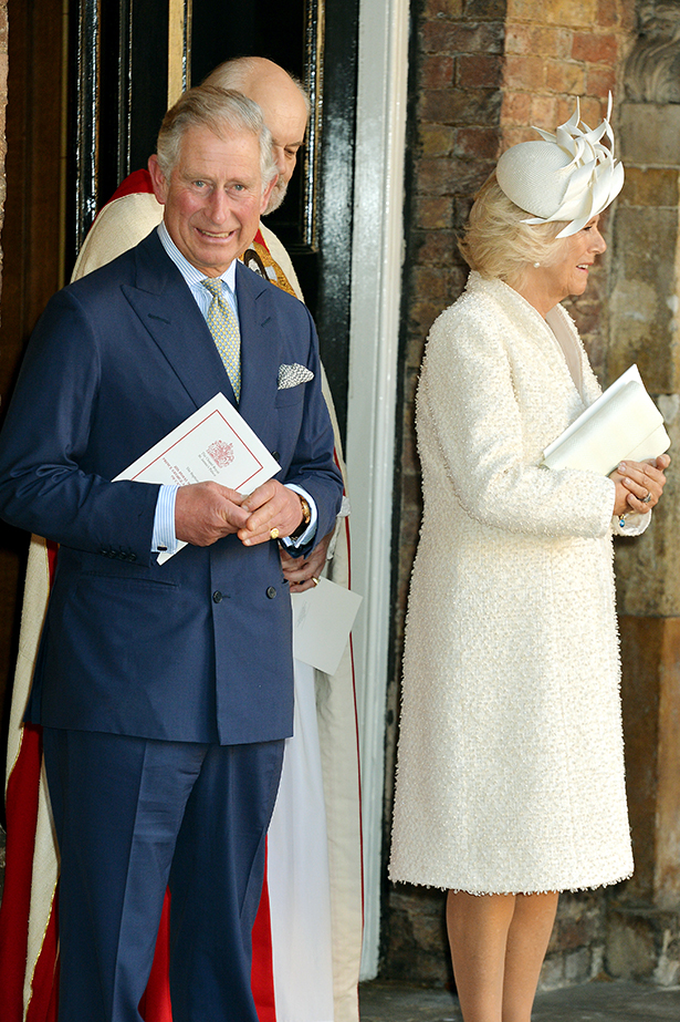Camilla added texture to the royal line-up with a cream ensemble. Pearl strands gave Camilla's look a perfectly polished finish.