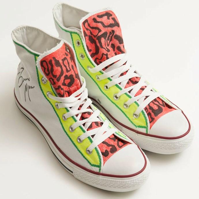 Bruno Mars' custom sneakers