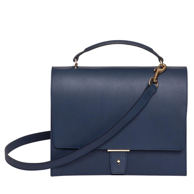 "Flip hand bag, $1095, PB0110, <a href=""http://www.huntleather.com.au/pb0110-flap-handbag-with-shoulder-strap.html"">huntleather.com.au</a>"