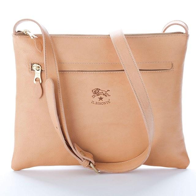 """Shoulder bag, $395, Il Bisonte, <a href=""""http://www.huntleather.com.au/il-bisonte-flap-zip-shoulder-bag.html"""">huntleather.com.au</a>"""
