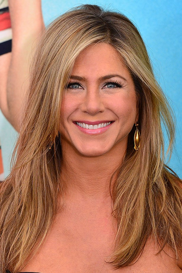 Nearly blonde, nearly brunette, Jen Aniston's trademark sandy lengths have a cult-like following.