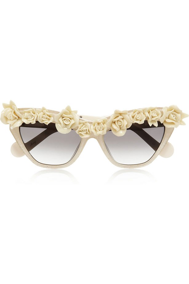 Sunglasses, $869, Anna-Karin Karlsson, net-a-porter.com