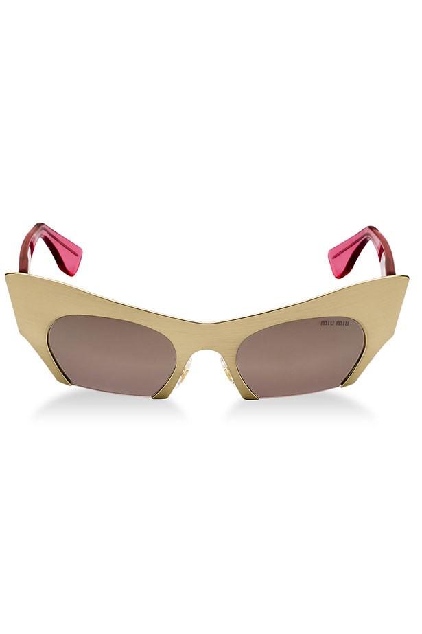 Sunglasses, $490, Miu Miu, sunglasshut.com/au