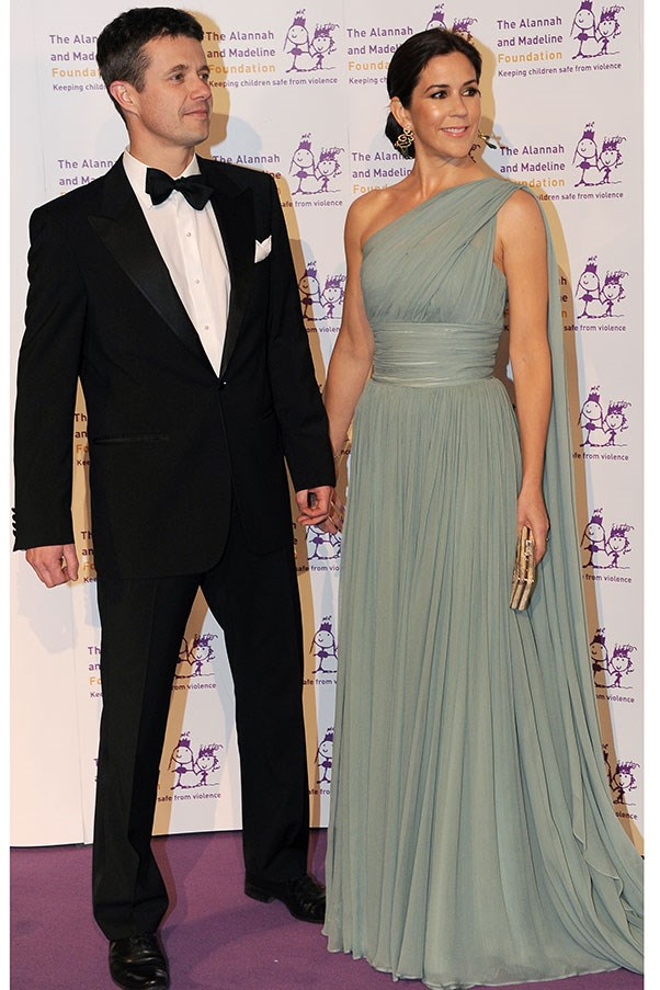 <strong>SOFT TOUCH</strong><br> On a return to Australia in 2011, Princess Mary showed her soft, romantic side in a diaphanous, one-shouldered gown that fell in folds of duck-egg grey.