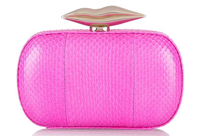 A pop colour clutch does wonders for a neutral dress. Clutch, $371, Diane Von Furstenburg, net-a-porter.com