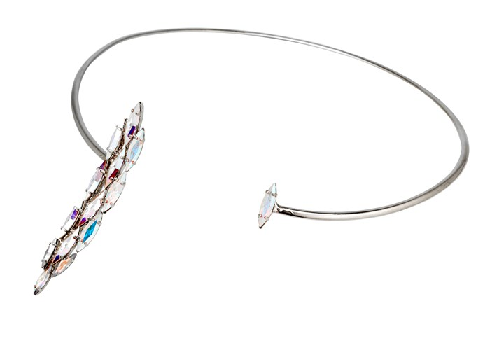 The new it-jewellery item? A neckpiece. Neckpiece, $338, Emma Mulholland x Ryan Storer, (02) 9331 6252