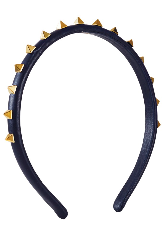 If you're not a fascinator fan, try a tricked-out headband. Headband, approx. $192, Valentino, stylebop.com